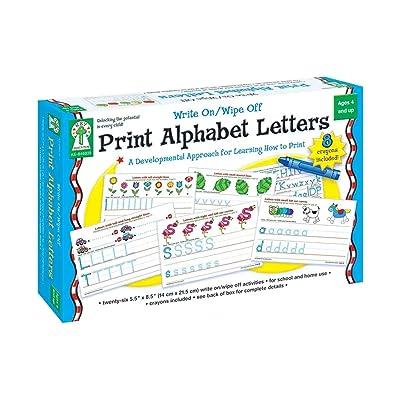 Key Education Publishing Write On/Wipe Off: Print Alphabet Letters: Seberg, Karen: Toys & Games