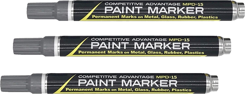 3 marcadores permanentes 2mm - color silver