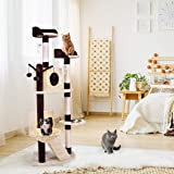 """Tangkula Cat Tree Cat Climber Multi-Level Tower Indoor Pet Furniture Kitten Condo with Scratching Posts and Ladder Cat Activity Tree(63"""")"""
