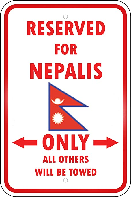 Amazon com: Aluminum Metal Sign Funny Nepal Country Parking