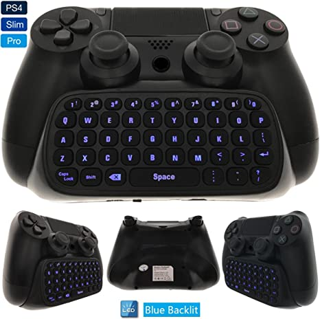 Teclado WHITEOAK PS4, Mini Chat inalámbrico, Gran Adaptador de Teclado para Playstation 4 PS4, Slim, Pro Controller: Amazon.es: Electrónica