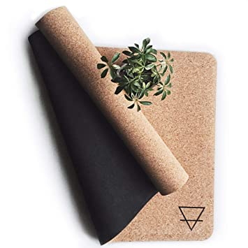 Amazon.com: Urbivore Non-Slip Cork Yoga Mat - All Natural ...