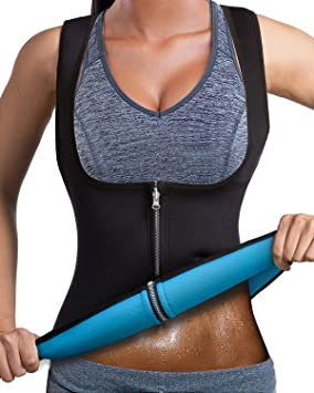 ee2c71f92741b LaLaAreal Women Slimming Vest Hot Sweat Top for Weight Loss Waist Trainer  Neoprene Workout suit Cincher
