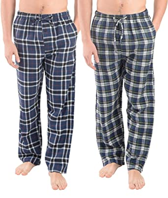 Active Club - Super Soft Men s Flannel Plaid Pajama Pants Sleepwear Bottoms  2 Pack ( 7ad46cda5