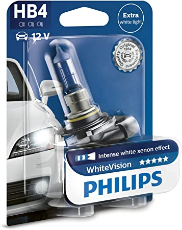 Amazon Com Philips Halogen Whitevision Xenon Effect Hb4 12 V P22d One Bulb 9006whvb1 Automotive