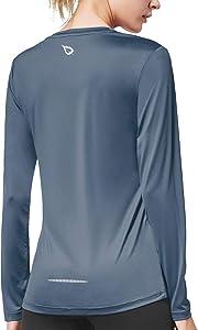 BALEAF Women's Long Sleeve UV Shirts Quick Dry Running Workout Shirts