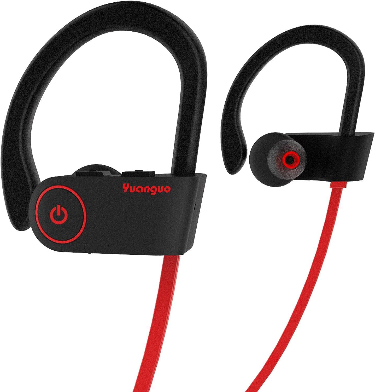 HolyHigh Auriculares Bluetooth Yuanguo2 Impermeable IPX7 Cascos Inalámbricos Deportivos Mini con Micrófono Cancelación de Ruido CVC6.0 para Running Correr Deporte
