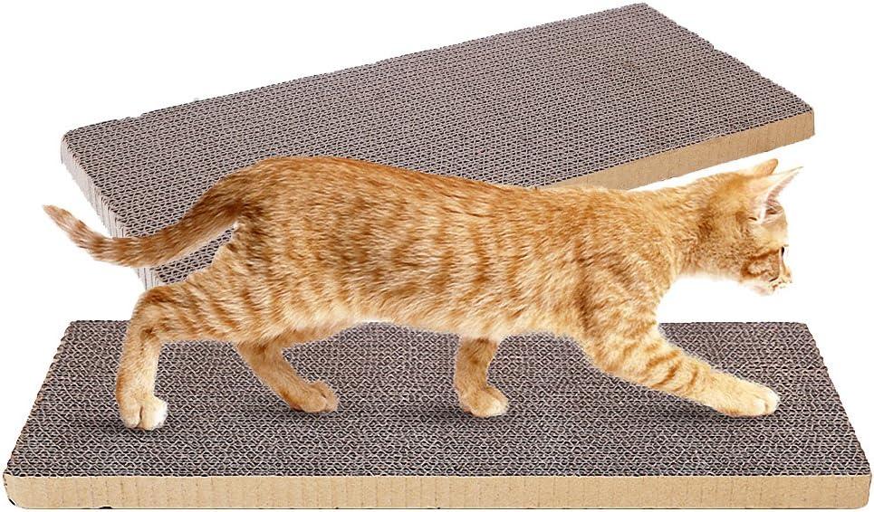 OMEM (Paquete de 2 Almohadillas para rascar Gatos, Pueden Recortar para Que los Gatos jueguen en Cualquier Lugar, DIY para Hacer Que su Mascota esté satisfecha.