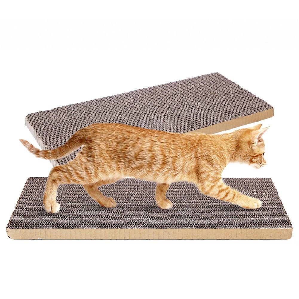 (Paquete de 2 almohadillas para rascar gatos OMEM, se pueden recortar para que los gatos jueguen en cualquier lugar, DIY para hacer que su mascota esté satisfecha.