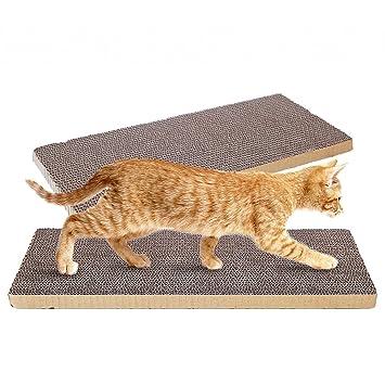 OMEM (Paquete de 2 Almohadillas para rascar Gatos, Pueden Recortar para Que los Gatos
