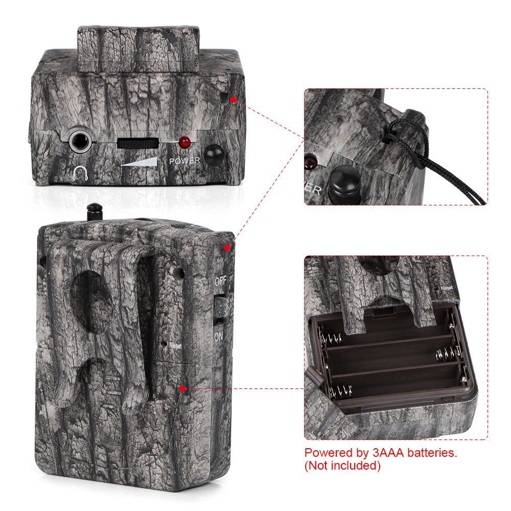 Bestguarder Wireless or Cordless Hunting and Security Alarm System with Sound Vibration LED Light Three Alert for Hunter to be Informed of Any Animals Approaching