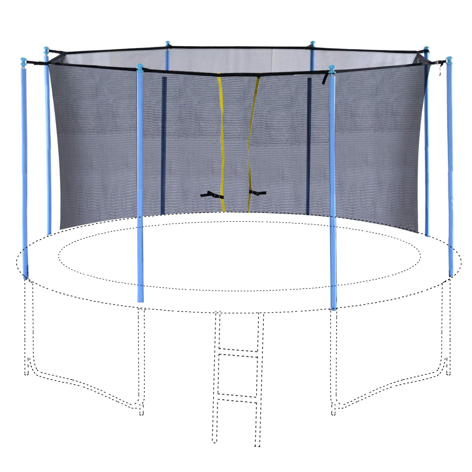 Exacme Inner Enclosure Safety Mesh Net with 6 Poles for C-Series 12 FT Trampoline 6181