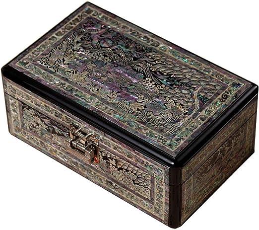 irugh Caja de joyería, Caja de Almacenamiento de Madera, China, Caja de vestidor, Caja de joyería, Caja de joyería con Cuentas Vintage: Amazon.es: Hogar