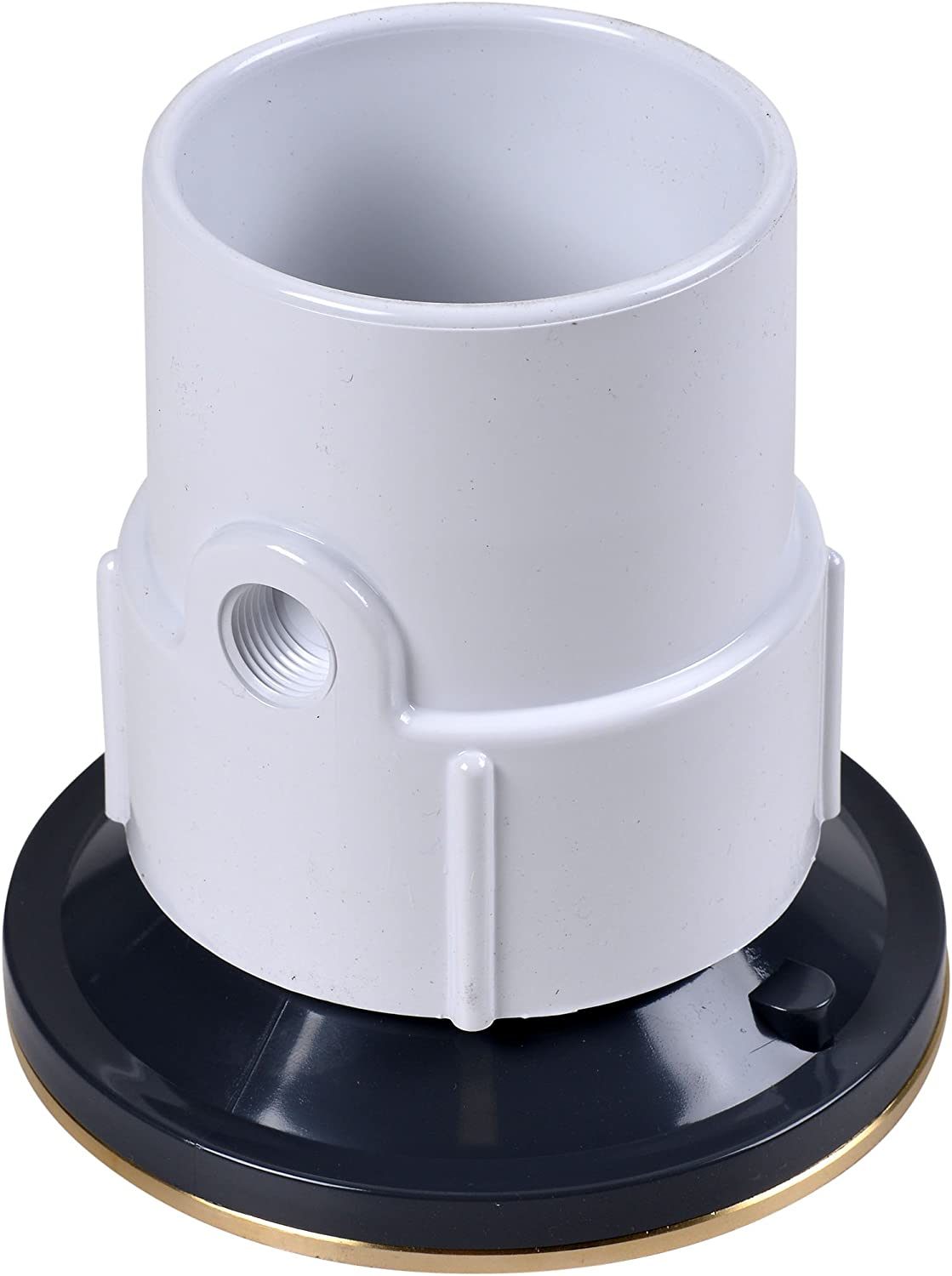2-Inch Oatey 82332 ABS Adjustable Commercial Drain with 6-Inch Cast NI Grate and Round Top