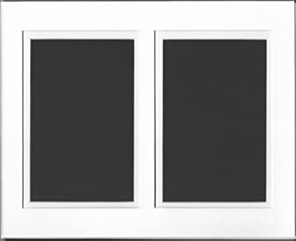 Amazoncom 16x20 White And White Double Picture Mat Cut For 2 8x10