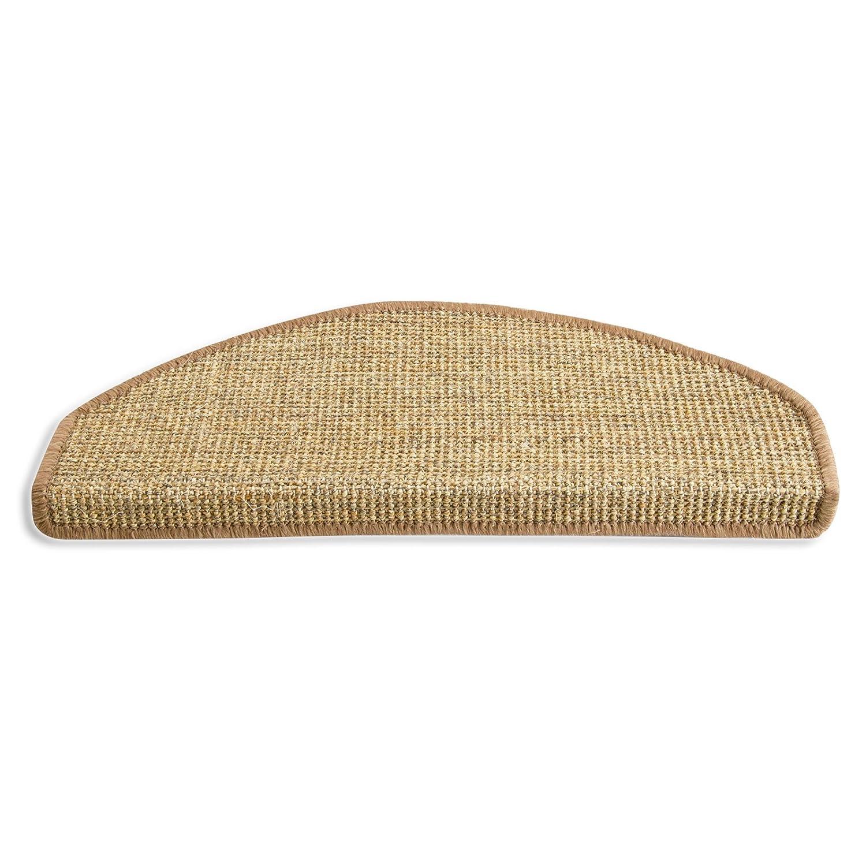 casa pura Premium Sisal Rug, Natural - Stair Treads, 25x65cm (Rectangular) | Multiple Size Options Available