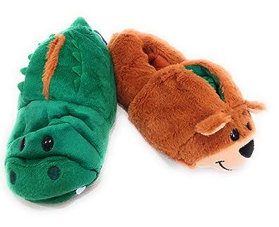 5b136dcbb65 Flipazoo AS SEEN ON TV Slippers Bear Transforming to Alligator Children s  Size