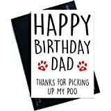 Funny Happy Birthday Card From The Dog For Him Pet Lover Dad