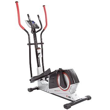 Ultrasport Bicicleta elíptica XT-Trainer 1000A con sensores de pulso de mano, bidón incluido