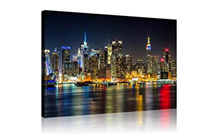 amazon com nan wind large canvas print wall art manhattan night