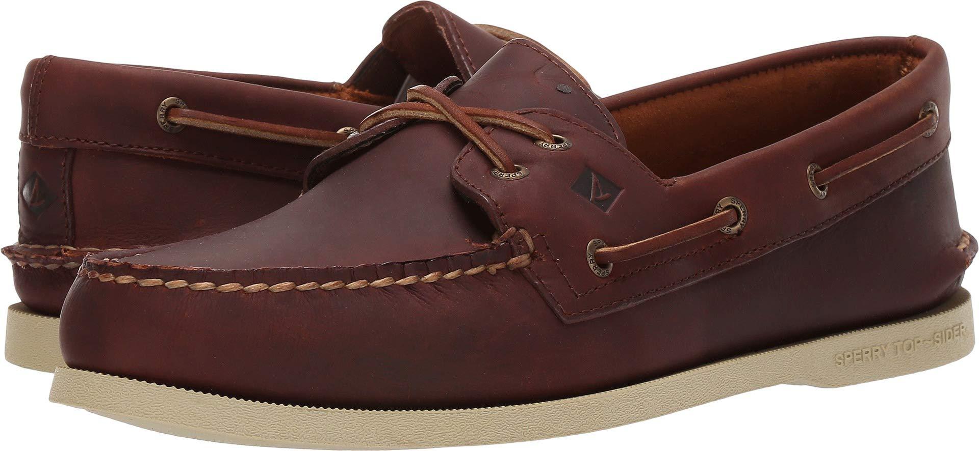 Men's Sperry Topsider, Authentic Original Boat Shoe Dark TAN 10 M