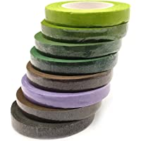 YuChiSX 8 stuks Bloemist Tape Groene Flora Afplaktape Bloemendraad Decoratie, Bloemen Tapes Wraps,Gekleurde Plakband…