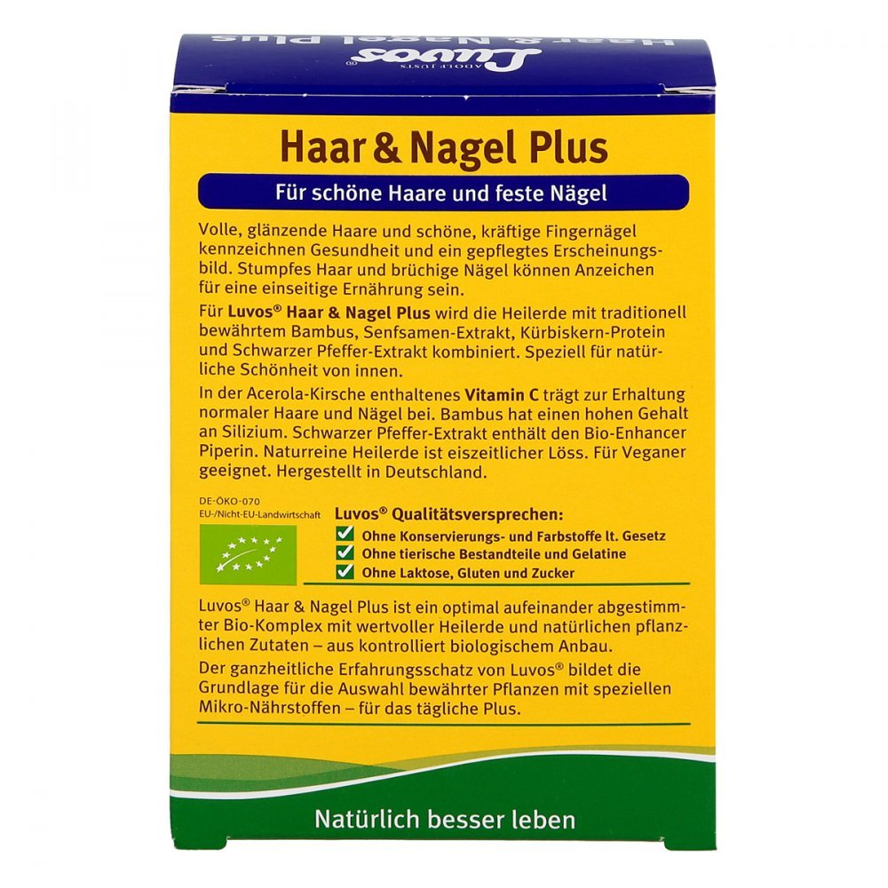 Luvos Heilerde Bio Haar & Nagel Plus Kapseln 60 stk: Amazon.de ...