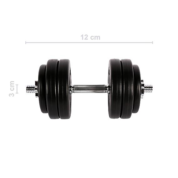 Juego de pesas 30 kg (2 x 15 kg) | Juego de pesas cortas, 30 kg (2 ...