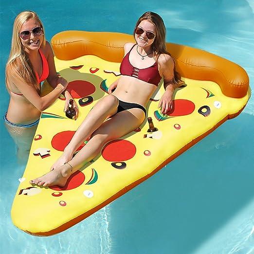 Lumiparty colchoneta piscina hinchable flotador de pizza,divertido ...