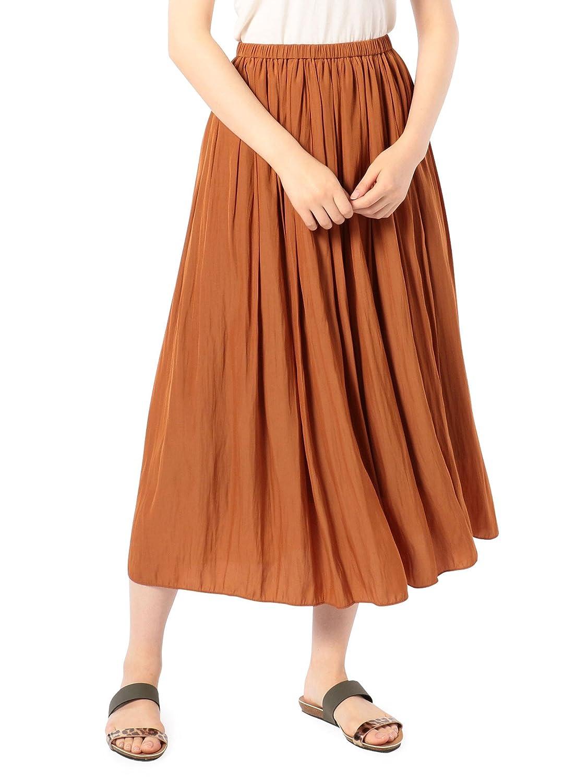 (ノーリーズ) NOLLEY'S 割繊ロング丈ギャザースカート 8-0040-1-06-006 B07DYFSMZ4 36|ブラウン ブラウン 36