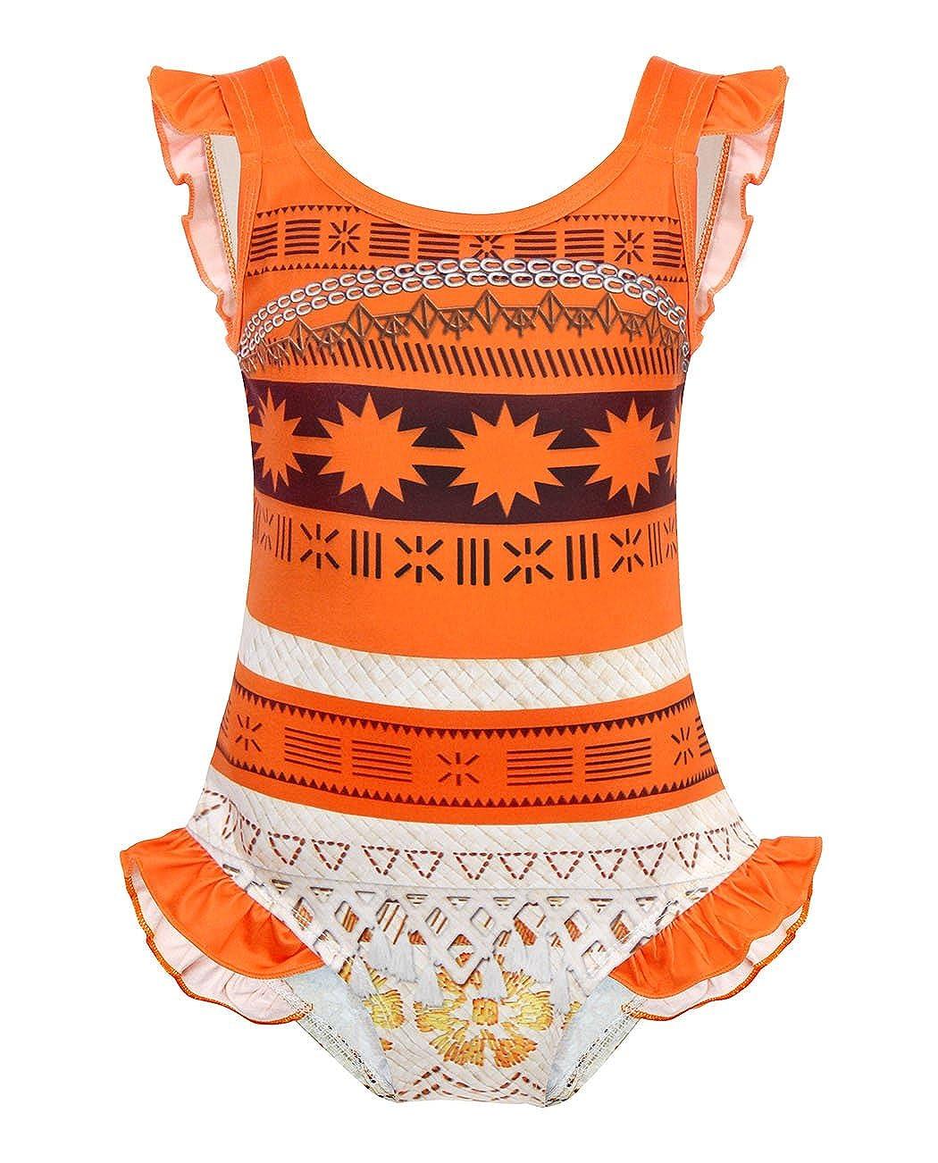 AmzBarley Moana Swimming Costume Swimsuit Swimwear for Kids Girls Pool Beach Bathing Suit
