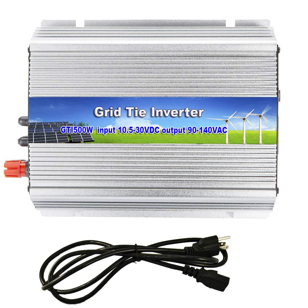 iMeshbean 500W Solar Grid Tie Inverter, MPPT Pure Sine Wave Inverter DC 10.5-30V to AC 110V for Solar Panel System