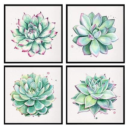 e22f9621b81 Plant Art Succulent Plants Canvas Wall Art Home Décor Simple Life Oil  Painting Posters Prints 12 quot
