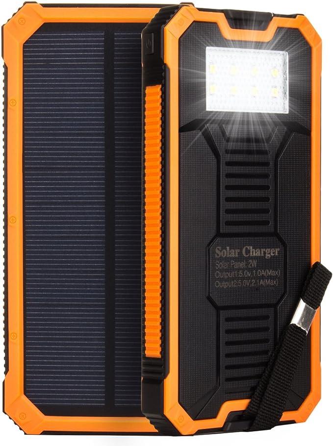 HanLuckyStars 15000mAh Cargador Solar Batería Externa PowerBank ...