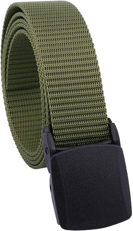 Tactical Adjustable Survival Solid Nylon Outdoor Waist Belt With Plastic buckle@