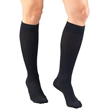 Truform Compression Socks, 15-20 mmHg, Womens Dress Socks, Knee High Over