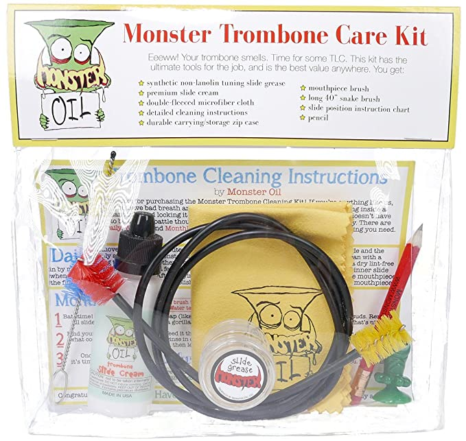 Amazon Monster Trombone Care And Cleaning Kit Slide Cream