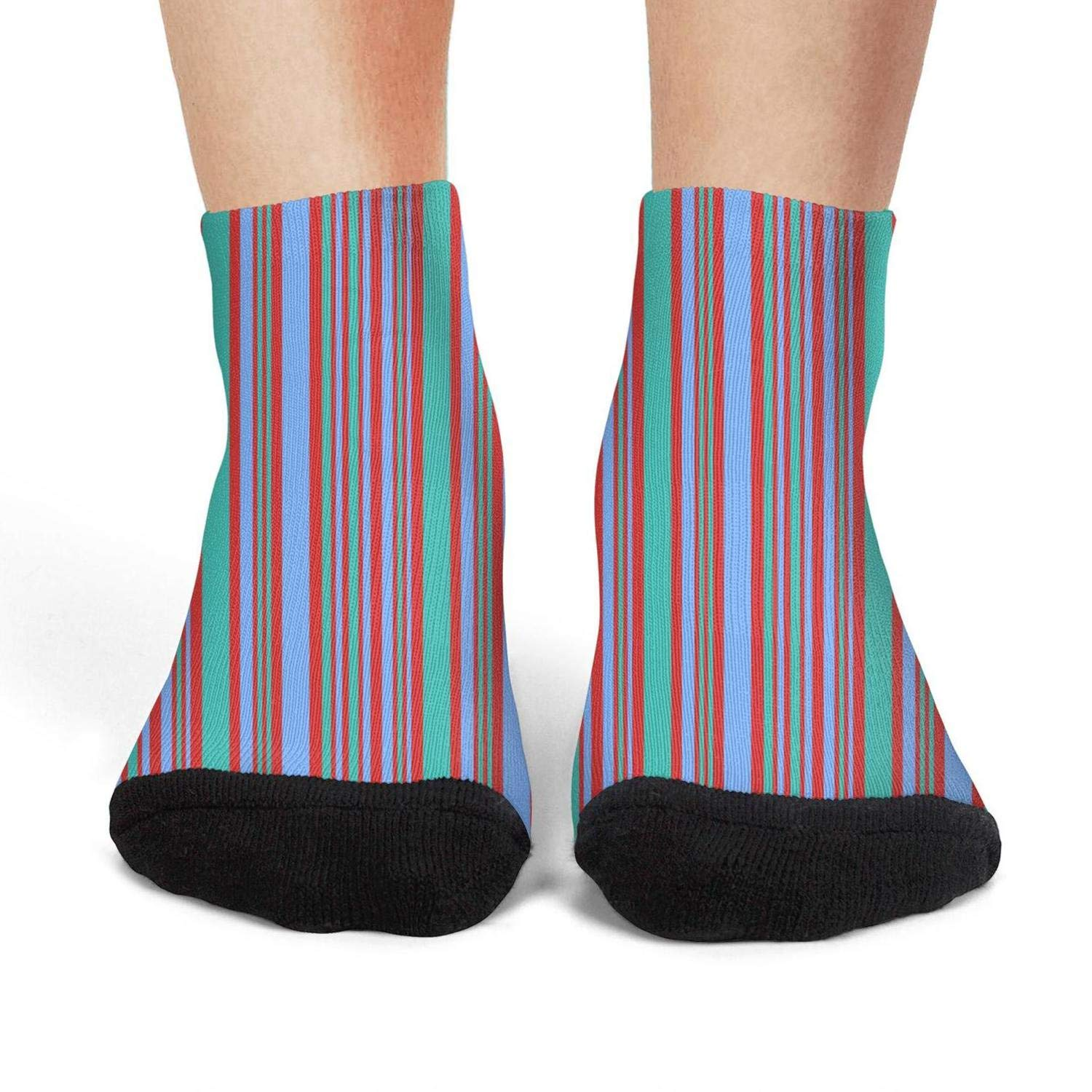 Mens low cut athletic Ankle sock Stripe Breathable Short Sock