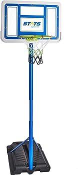 Stats Adjustable Portable Basketball Set with Ball