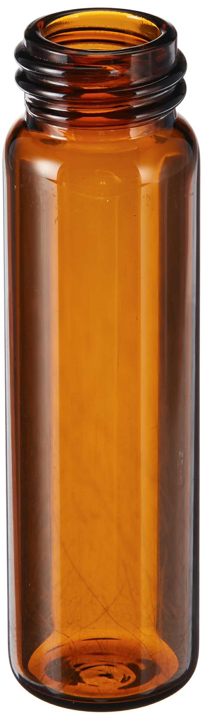 National Scientific B7999-3A Glass Storage Vial, 22ml Volume, 17mm D x 60mm H, Amber (Pack of 200)