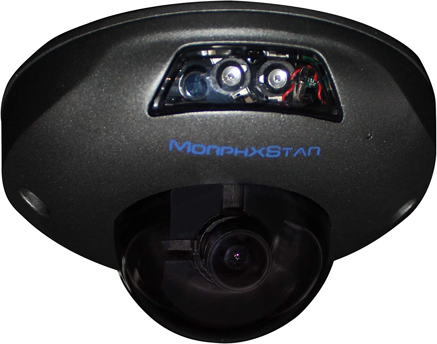 MorphXStar Security 8 Megapixel 4K 2.8 mm; Wide Viewing Angle: 120° Lens IK10 Vandalproof Onvif H.265 8MP Mini Dome PoE IP Camera, 80FT Night Vision - UFOX4K Space Grey
