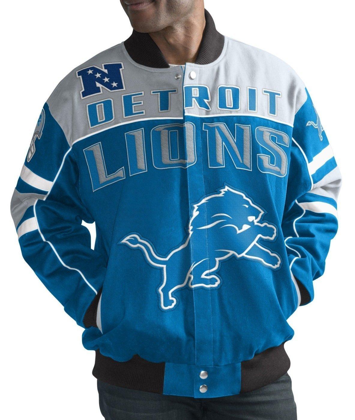 G-III Sports Detroit Lions Men's Blitz Premium Cotton Twill Jacket