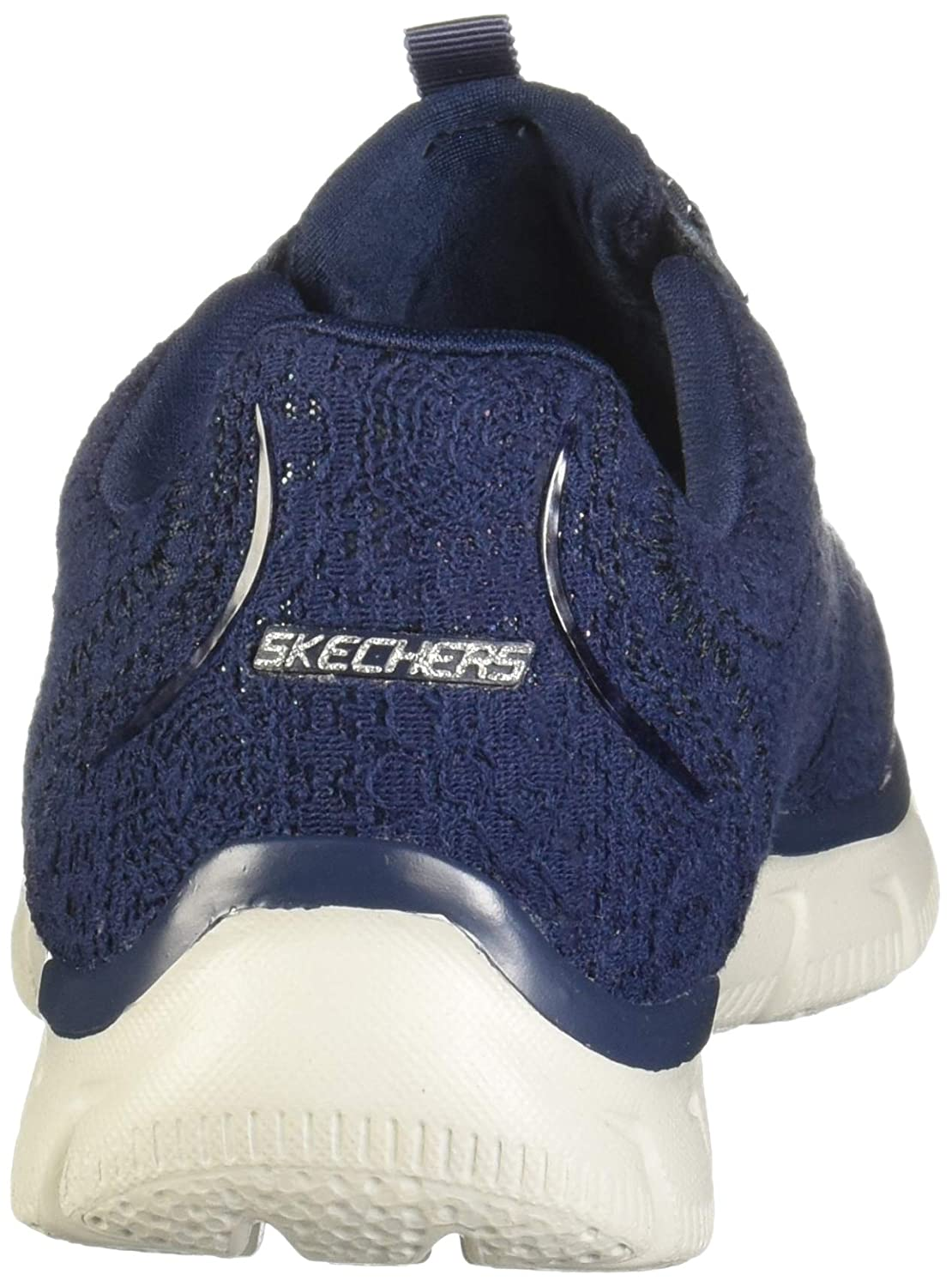 af17c0c2aa45 Skechers Womens Navy Knit  Empire Spring Glow  Slip-On Trainers   Amazon.co.uk  Shoes   Bags