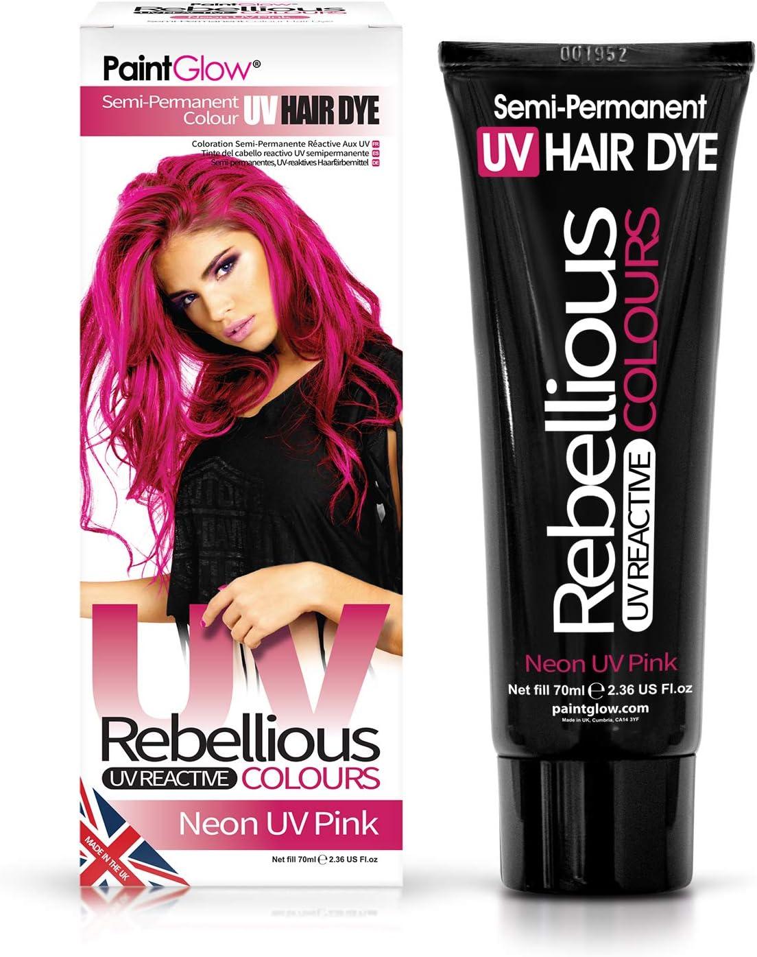 Neon UV Pink, tinte para el cabello semipermanente - Colores rebeldes