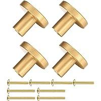 4 stuks kastknoppen, handgrepen meubelknoppen, metalen kastgrepen, meubelknoppen vintage, gouden keukengrepen…