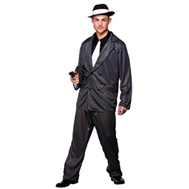 fb5f97c5720 XL) Mens Gangster Guy Costume for 20s 30s Gangsters Molls Fancy ...