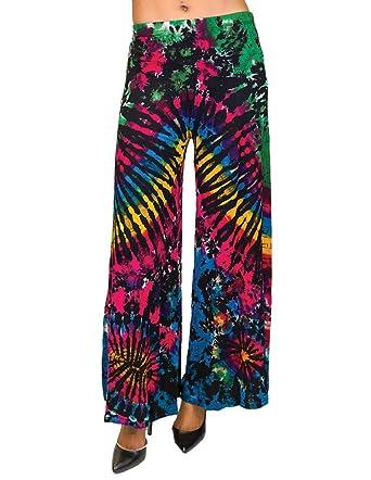 Royal Handicrafts Tie Dye Palazzo Pants Bwtr002 At Amazon Women S