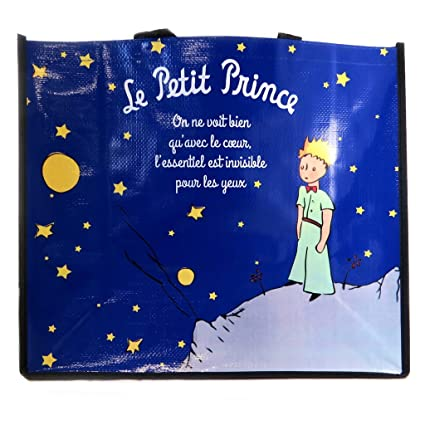 Diseño de bolsa de compra Le Petit Princeazul medianoche - 46x40x19 cm.