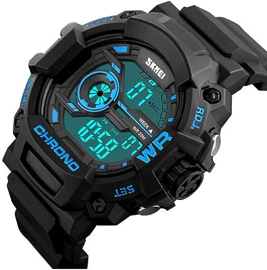 carlien hombre reloj deportivo digital resistente al agua al aire libre electrónico resistente al agua LED luz de fondo Militar reloj de pulsera: skmei: ...