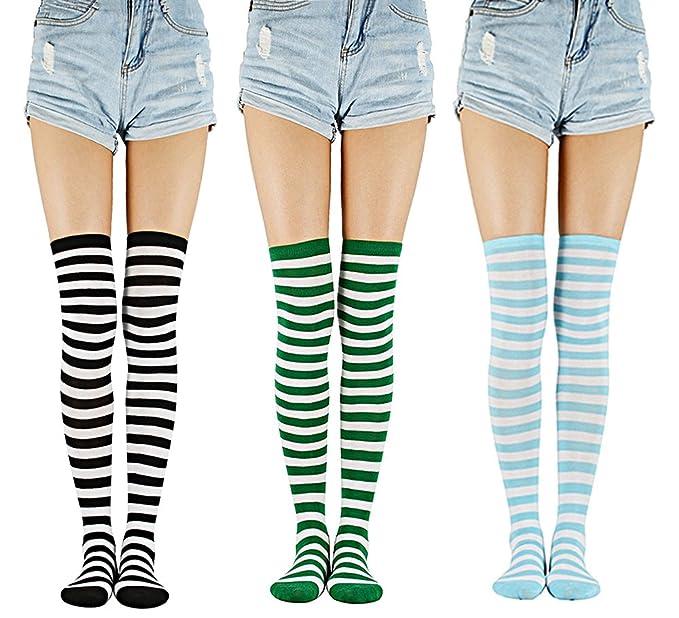 fec10e6d9594d Century Star Girl's Cute Thigh High Socks Over the Knee Socks Cute Women's  Warm Crochet High